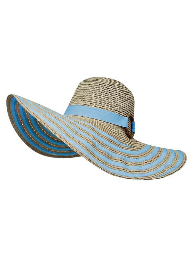 80b797bd STRIPED STRAW FLOPPY HAT #fashion #clothing #shoes #accessories  #womensaccessories #hats (ebay link)