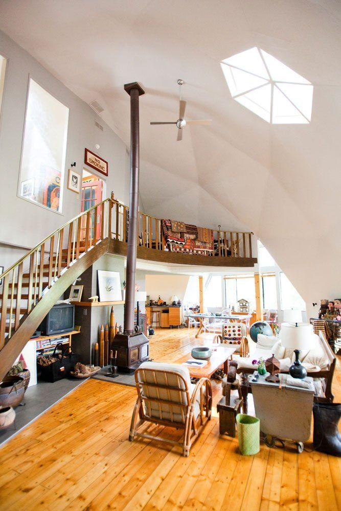 Keith Fran 39 S Arty Geodesic Dome Home House Tour