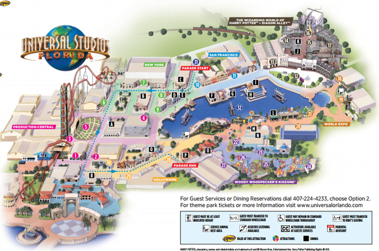 Universal Studios Florida Map.Universal Studios Florida Sights And Sounds Universal Orlando