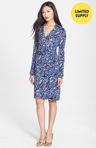 Diane von Furstenberg \'New Jeanne 2\' Print Silk Wrap Dress (Online ...