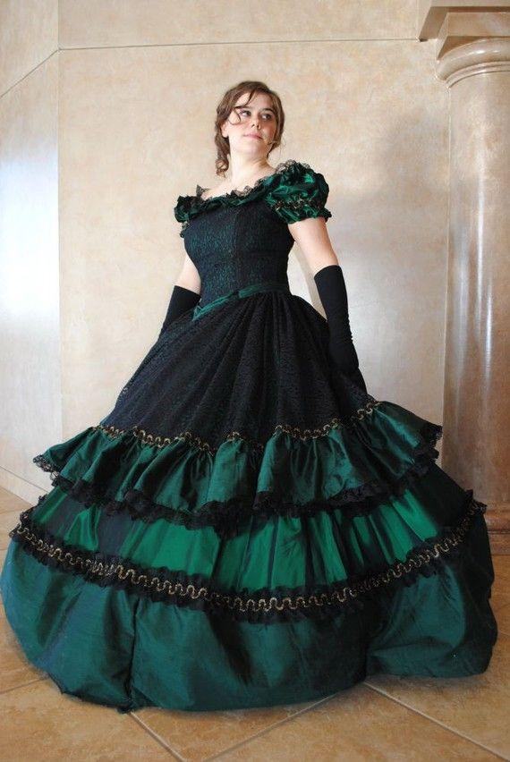 Victorian Civil War Ball Gown Dress Christmas by MattiOnline - Visit ...