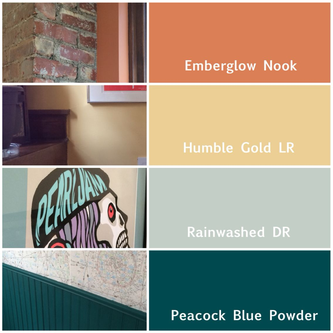 Main Floor Colors Sherwin Williams Emberglow Manual With Added Brown Humble Gold Peacock Blue Rai House Exterior Blue Exterior House Colors House Colors