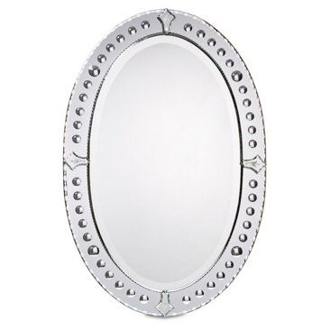 Check out this item at One Kings Lane! Oval Venetian Wall Mirror