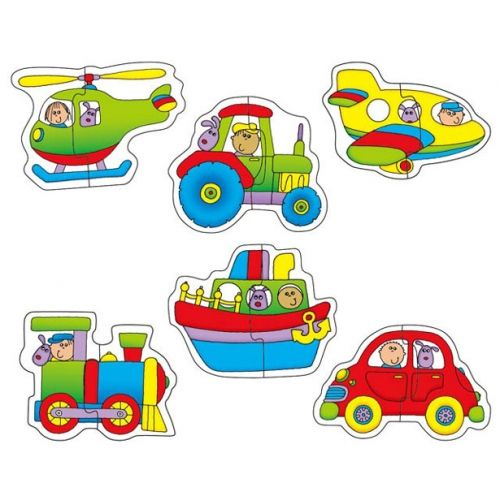 Best 12 Baby Puzzles - Transport (6 two Piece Puzzles)