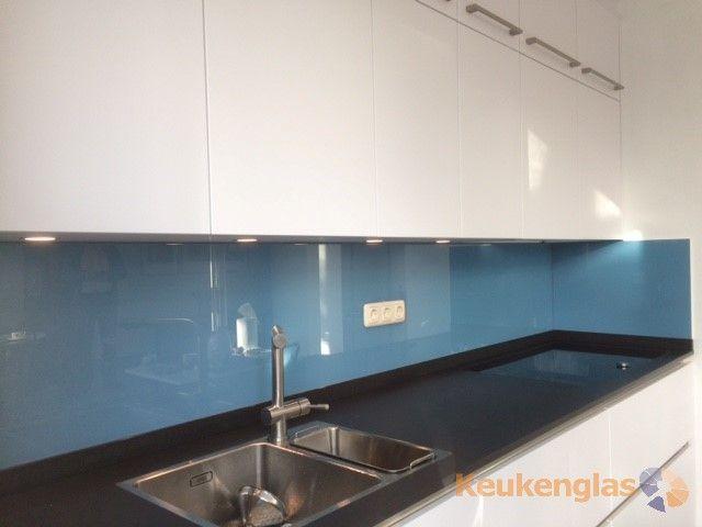 Glazen keukenachterwand achterwand keuken wonen.nl keuken spatwand