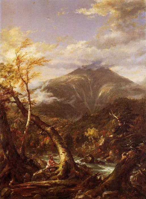 """Tahawus Indian Pass"", huile sur toile de Thomas Cole (1801-1848, United Kingdom)"