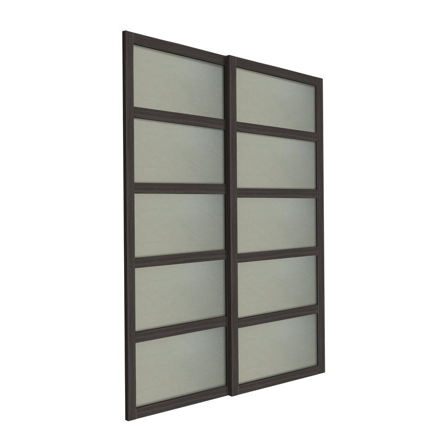 Delightful Shop Unbranded Bali 2 Panel Glass Sliding Closet Door (Common: 48 In