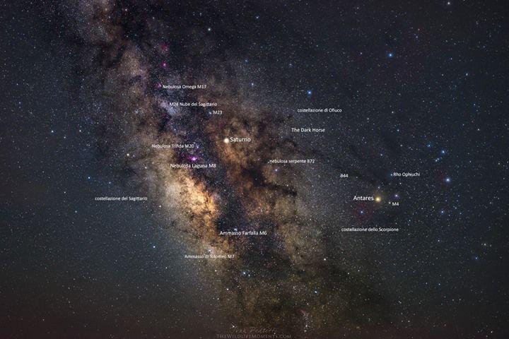 Il centro galattico della Via Lattea con le diverse nebulose.  Una bellissima opera di The Wildlife Moments Ivan Pedretti - http://ift.tt/1HQJd81