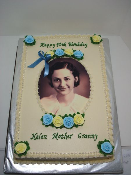 90th Birthday Cakes On Pinterest 90th Birthday Cakes 90th Birthday
