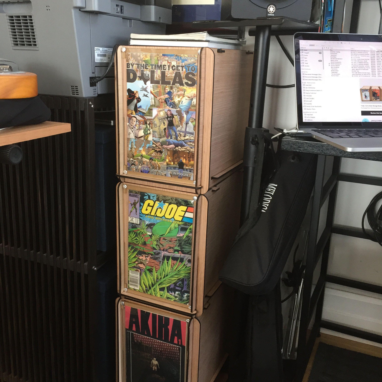 Three Comic Book Storage Boxes