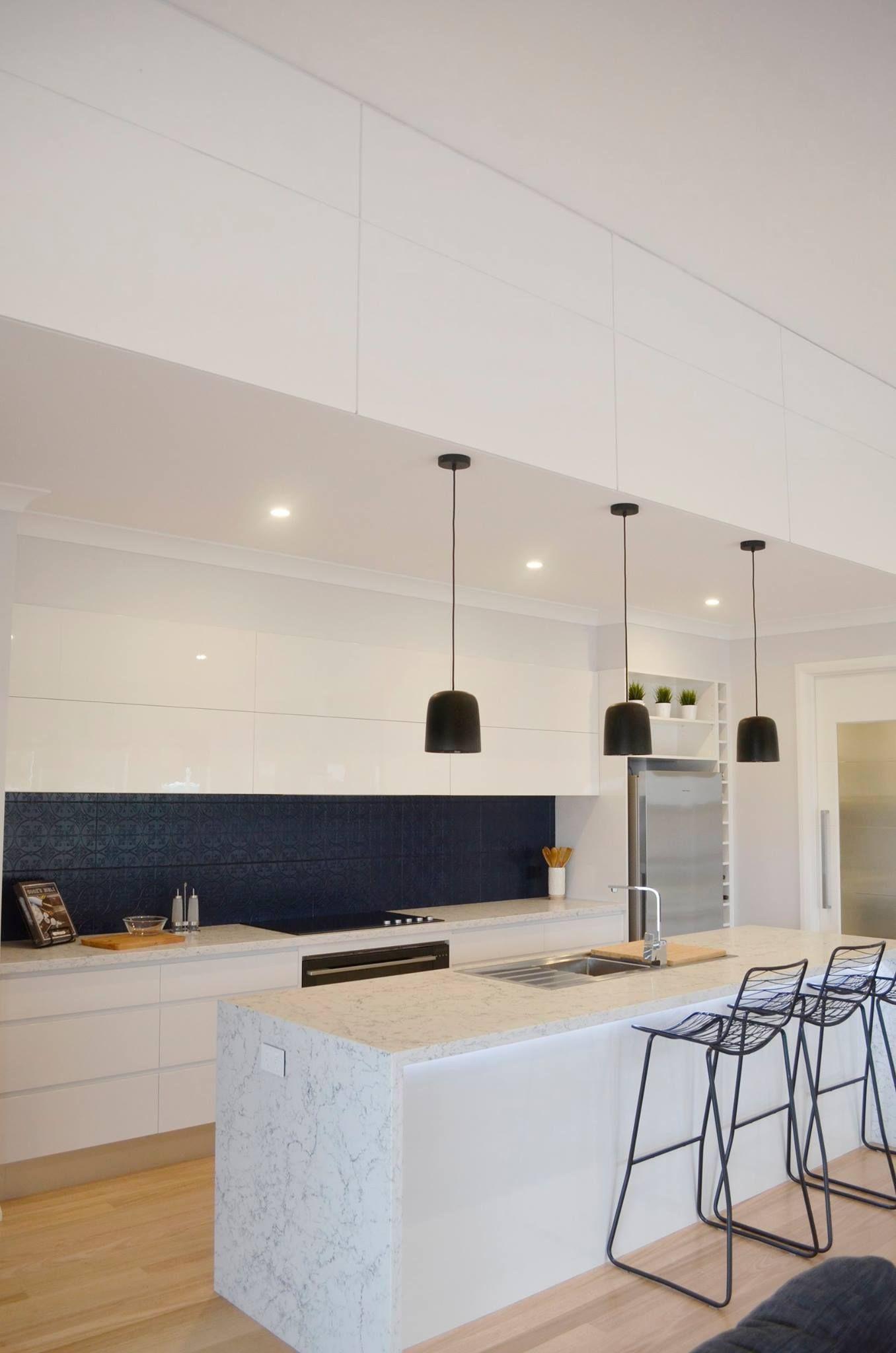 White Kitchen Grey Tiles