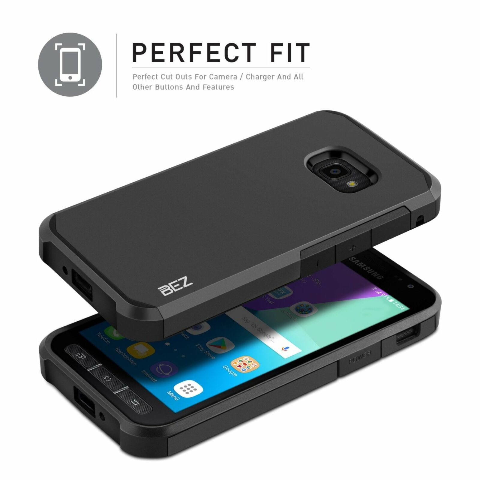 Xcover 4 Case Bez Shockproof Case Cover Shock Absorbing Best Heavy Duty Dual 686751612992 Ebay Case Cover Absorbent Heavy Duty