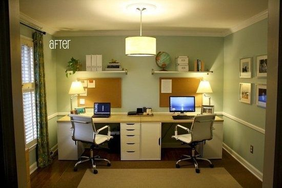 Home Office Idea Diy Two Person Desk Using Ikea Alex
