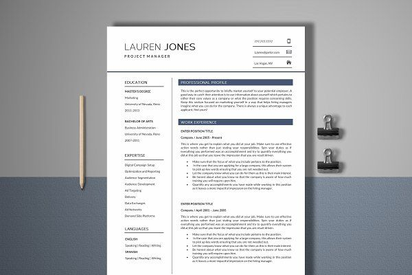 Create Cover Letter Free Resume Template 4 Page  Manager  Cv Design #resume #job #search .