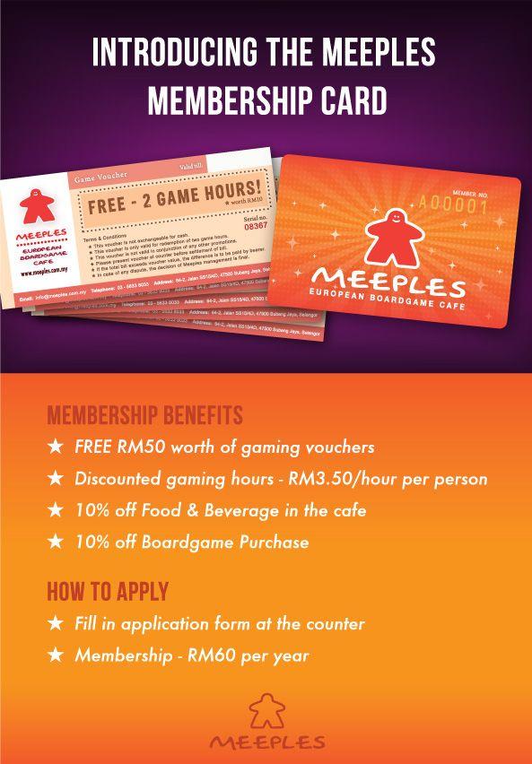 Great Memebership Ideas Meeples Membership Card Game Cafe Board Game Cafe Board Games