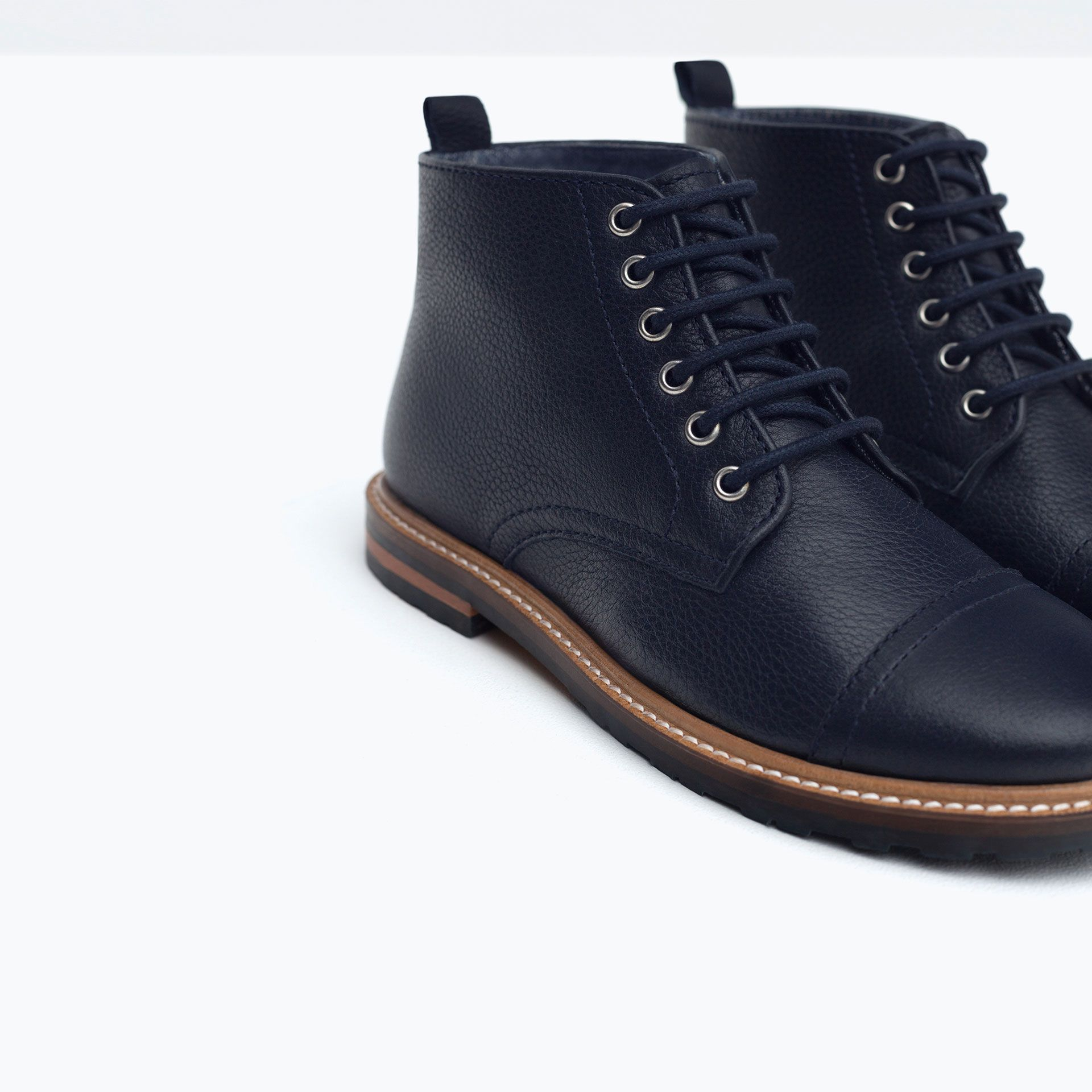 14 Zapatos Niño Zara Niños4 Botín Piel Años TJc1ulFK35