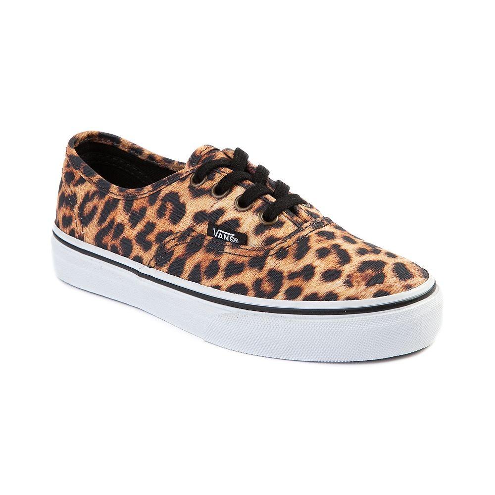vans youth leopard slip on