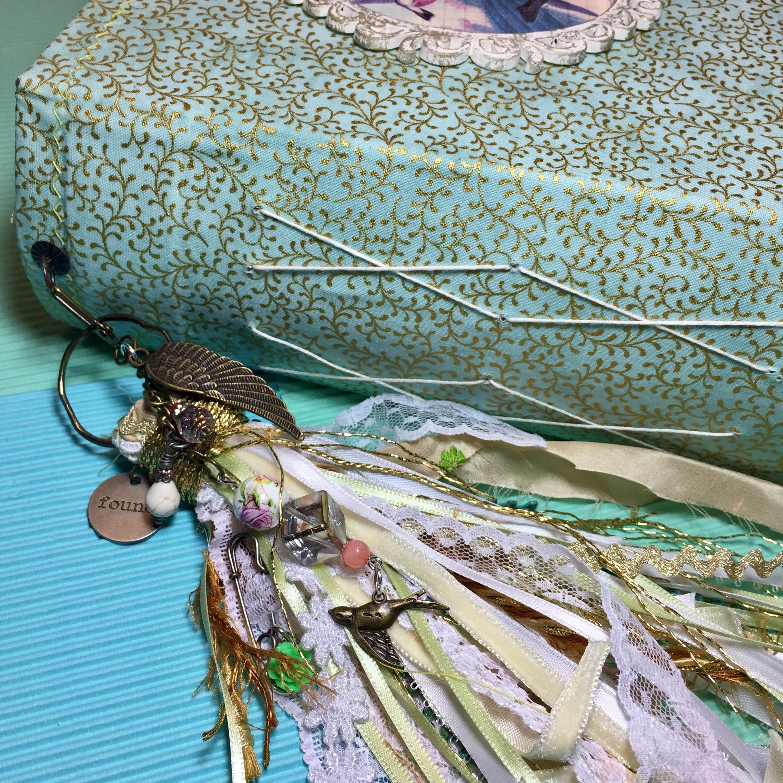 Shabby chic vintage junk journal tassel