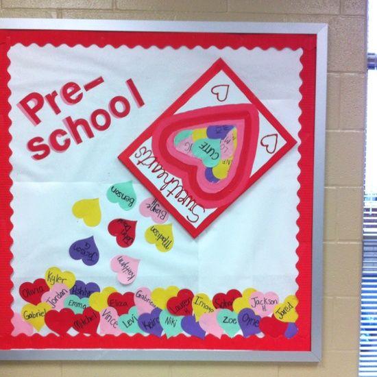 Pre-K Bulletin Boards For February