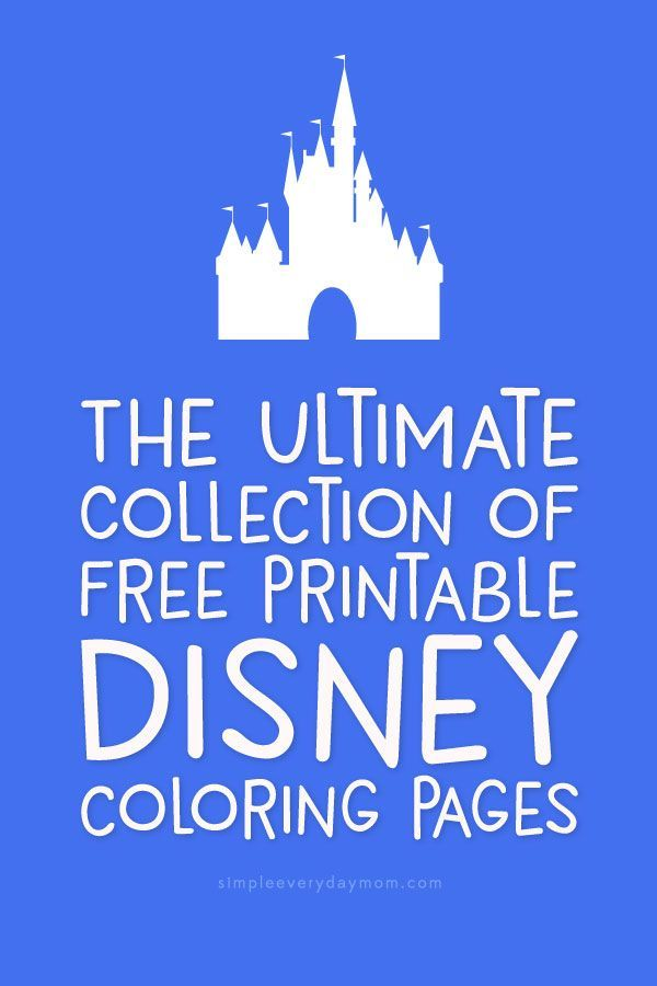 The Best Collection Of Free Disney Coloring Pages Disneyclub