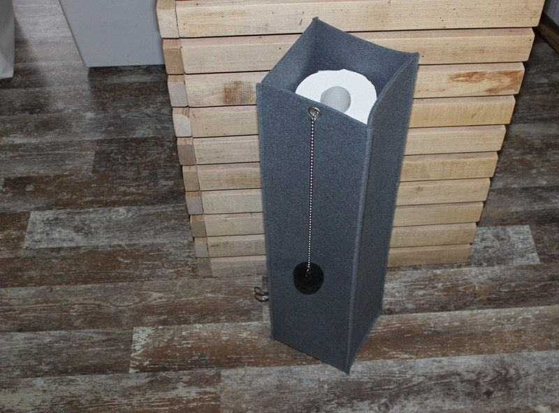 Toilettenpapier Aufbewahrung wc rollen säule aus filz zur aufbewahrung toilettenpapier im bad
