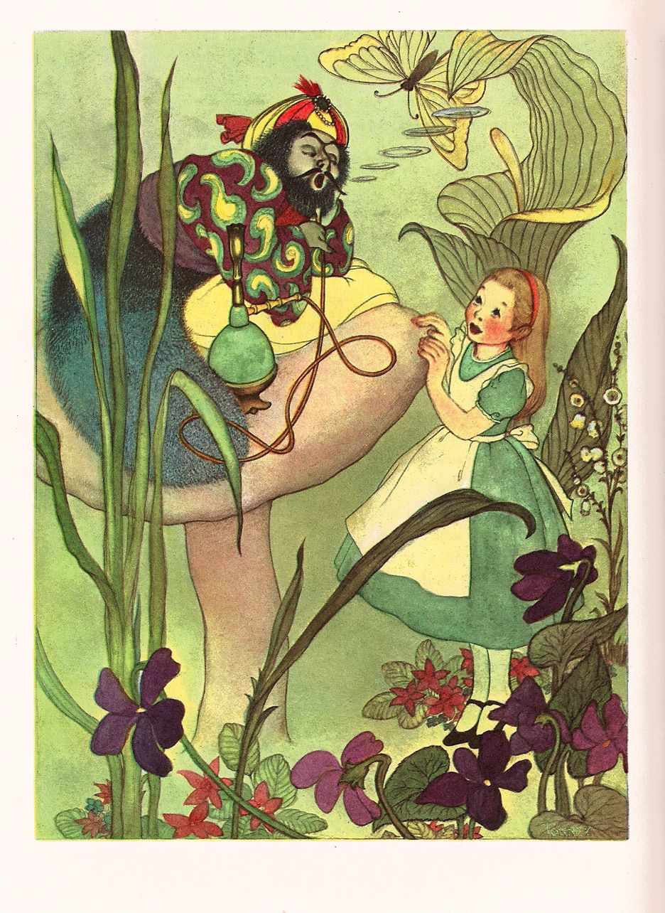 Giantess Tinkerbell within the art of children's picture books: alice's adventures in