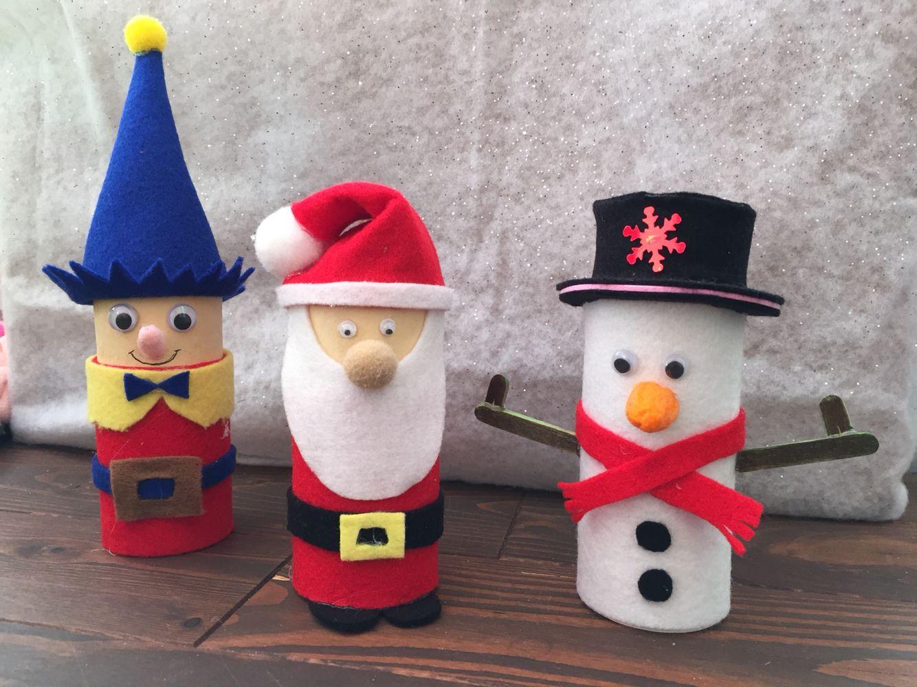Lutin, Père Noël et Bonhomme de neige en rouleau de papier