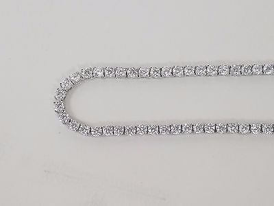 """white gold 30"""" simulated diamond iced out hip hop tennis chain necklace"""