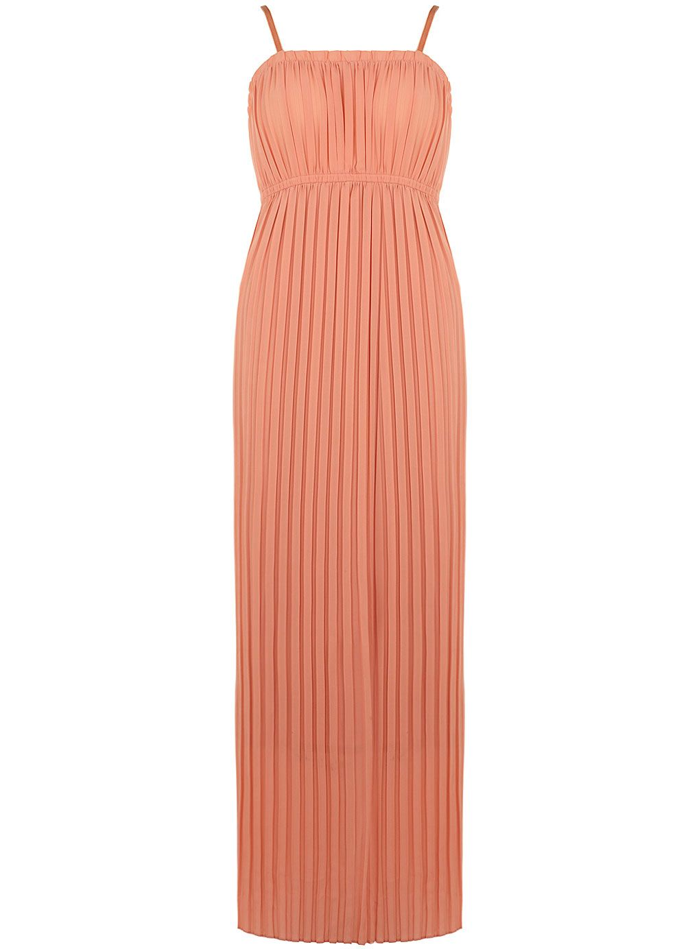 Peach full pleat maxi dress view all new in new in pleated