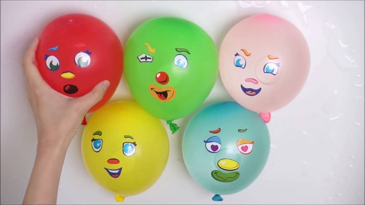 Five Colors Apple Balloons collection - Learn Colours wet Balloons ...