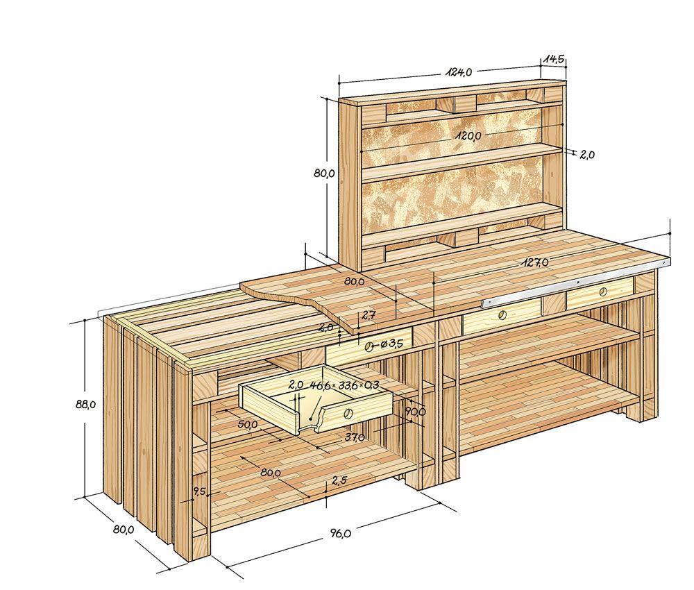 Werkstatt aus Europaletten bauen