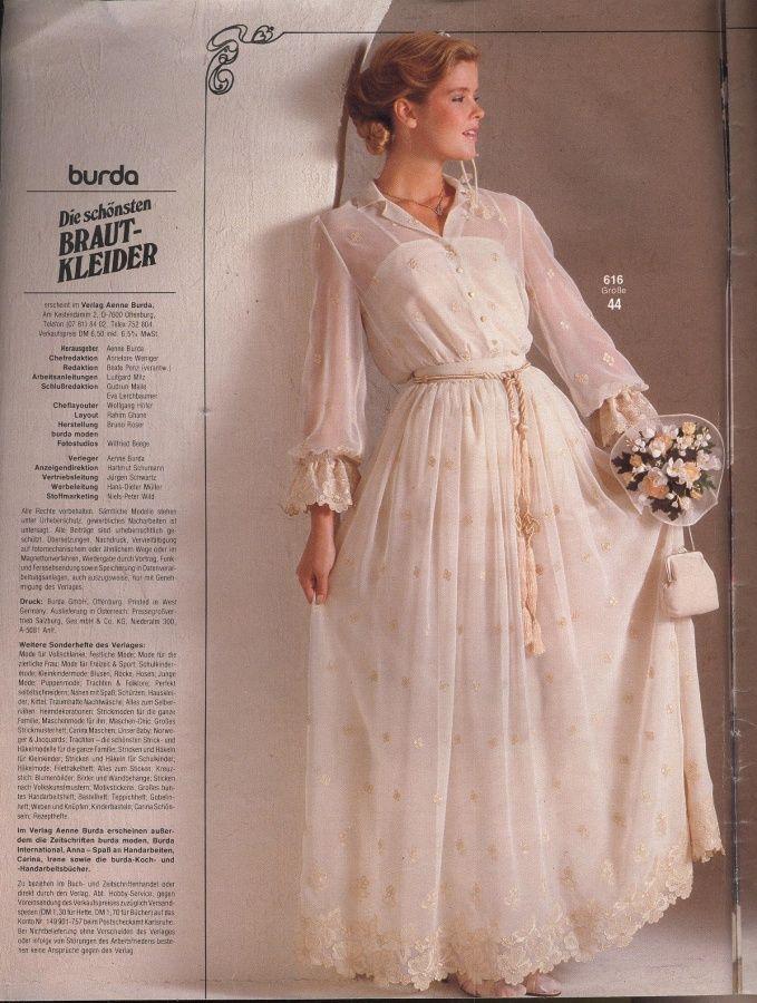 BURDA SPECIAL Brauntmode 1982 15/1982 | Vintage/retro wedding ...