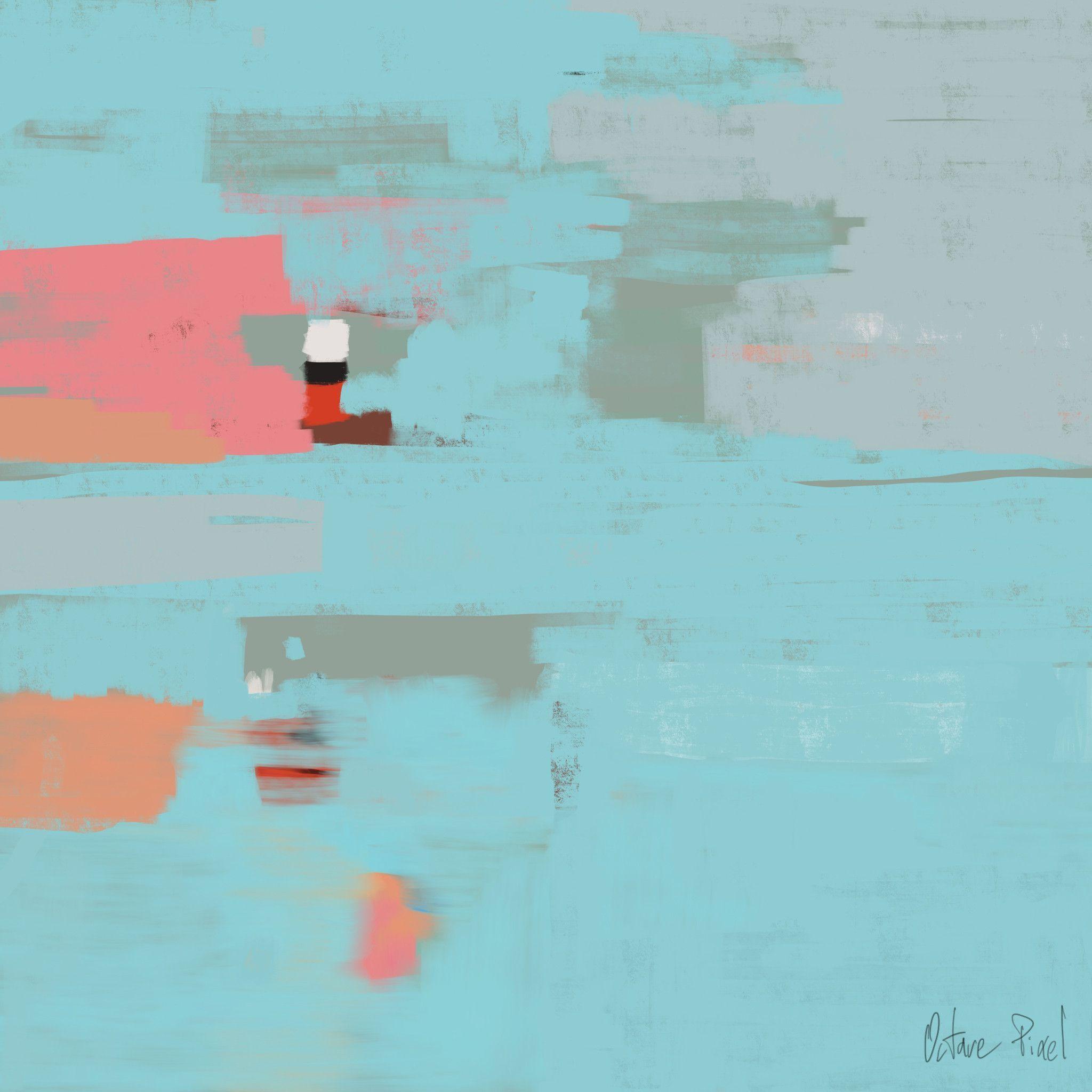 Peinture Num Rique Contemporaine Abstraite Couleur Bleu Peintures