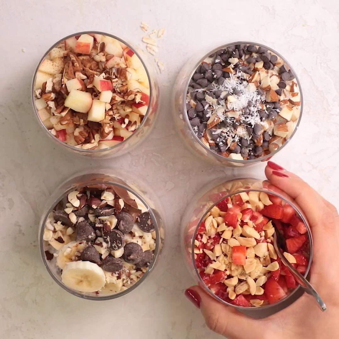 Easy Overnight Oats 4 Ways #breakfastideas