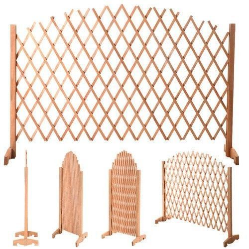 Details About Gate Wooden Screen Portable Expandable Patio Fence Safety Pet  Kid Garden Pets