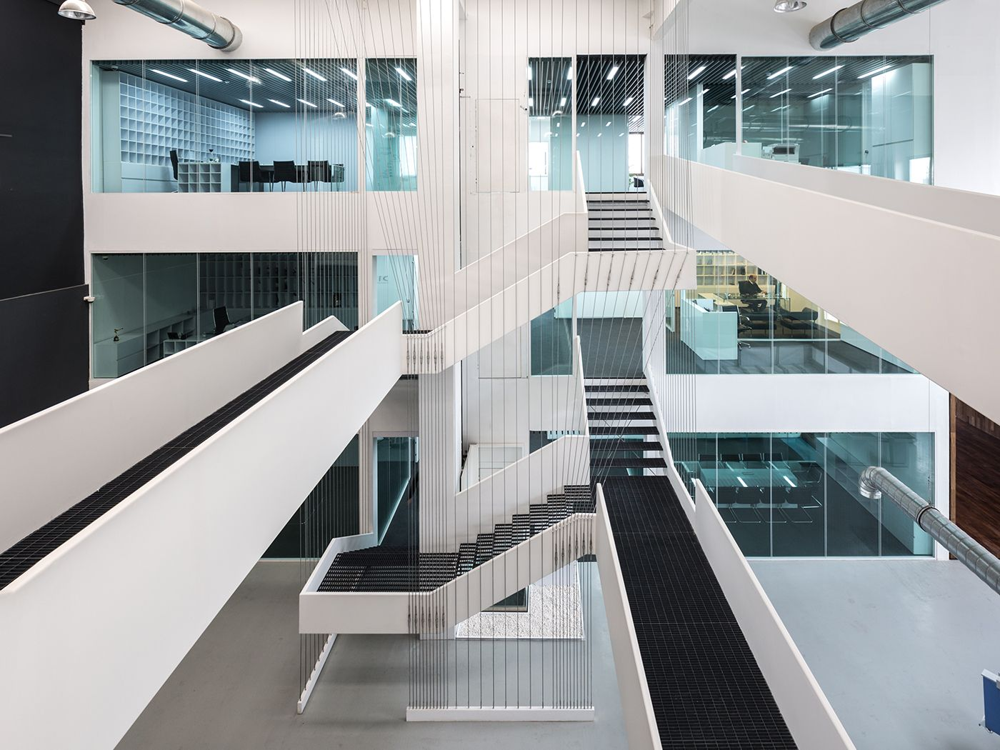 Best Hanging Stair Cables Ariochoob Office Showroom Architect Next Office July 2015 Dibats 640 x 480