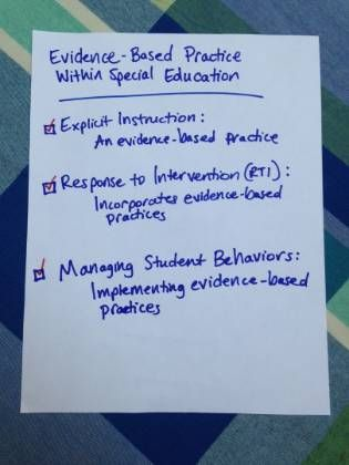 Evidence-Based Practice Within Special Education
