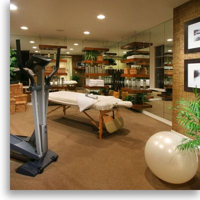 workout room  floating shelves  workout room home
