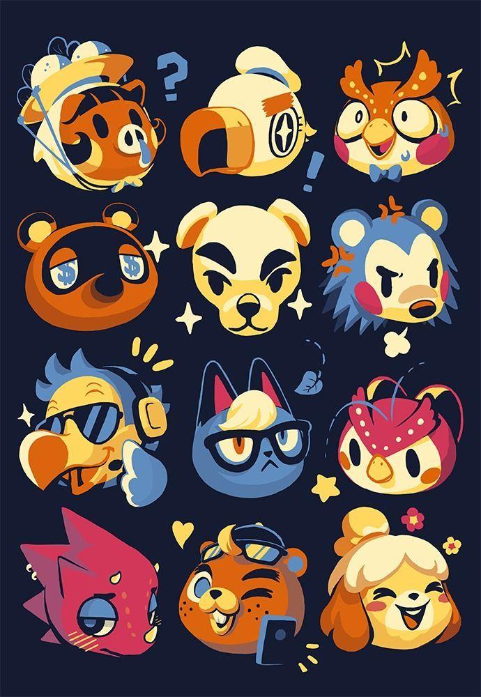 New Horizons Characters in 2020 | Animal crossing fan art ...