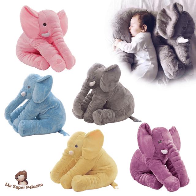 60 CM Éléphant En Peluche Oreiller Infantile Doux Pour Dormir En Peluche 40