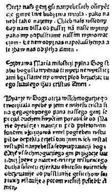 Najstarszy druk w języku polskim Statua Synodalia Episcoporum Wratislaviensium wydany w 1475 roku we Wrocławiu.