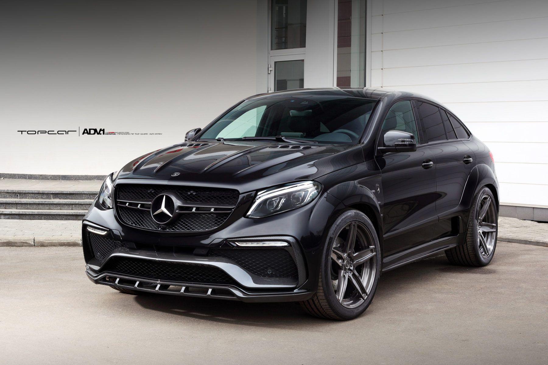 Black Mercedes Gle63 Amg Adv5 M V2 Sl Concave Monoblock Wheels
