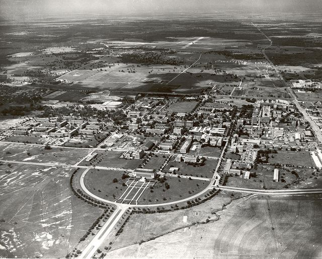 Aerial View Of Texas A M Campus 1955 Aerial View Texas A M University Aerial