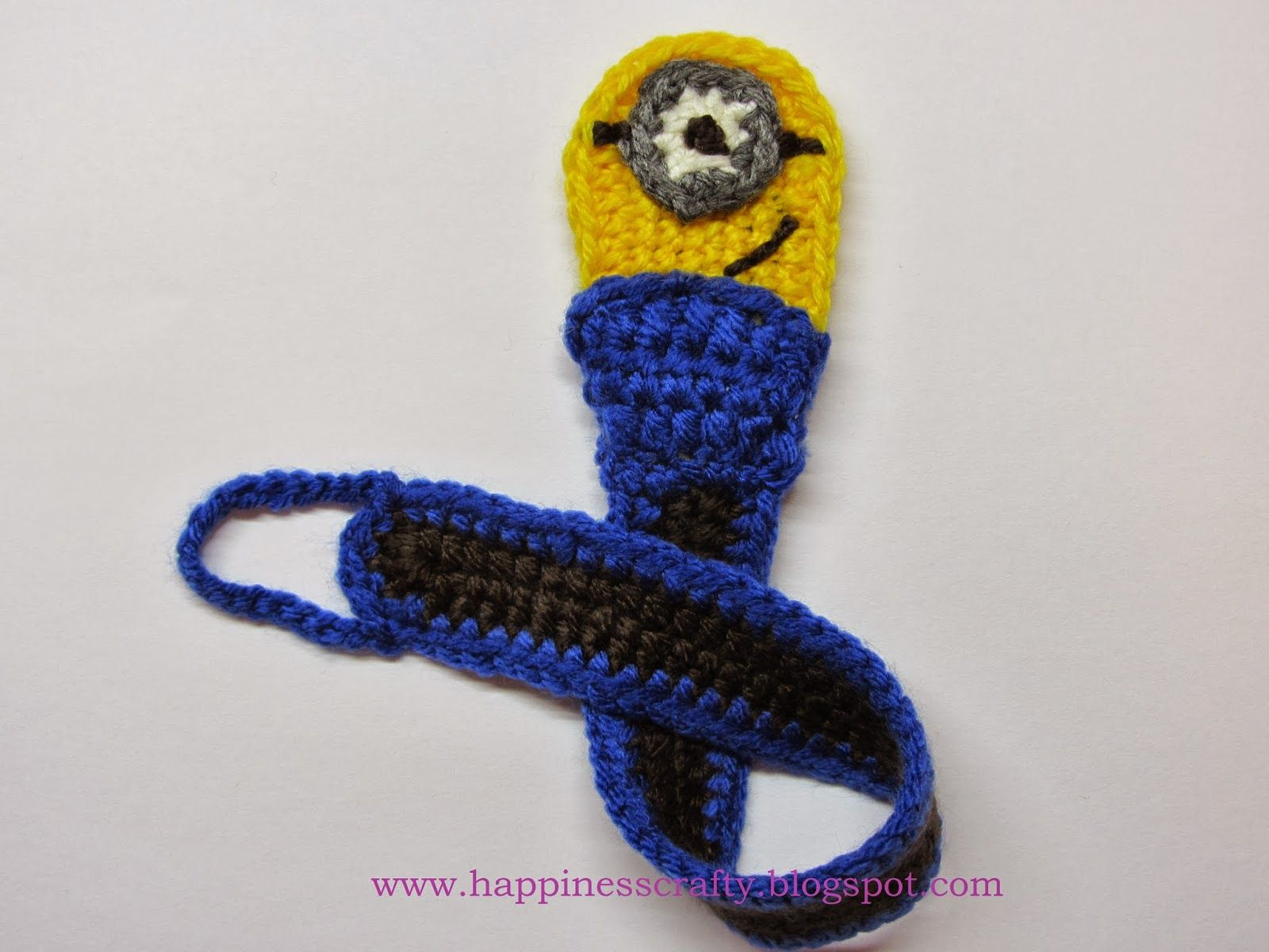 Minion Pacifier Holder ~ Free Crochet Pattern | CrochetHolic ...