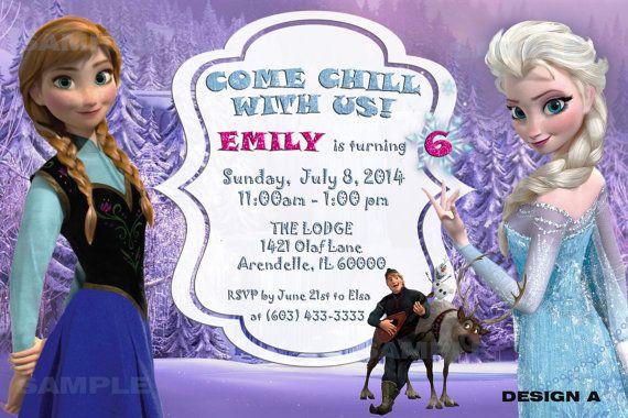 Disney Frozen Birthday Invitation by DreamalittleCraft on Etsy, $4.99