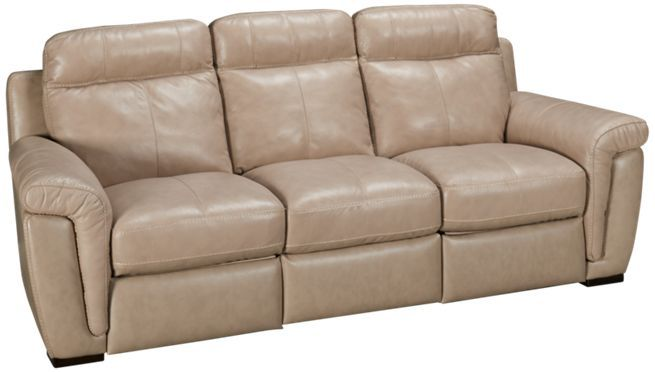 Softaly Pad Arm Leather Power Sofa Recliner Jordan S