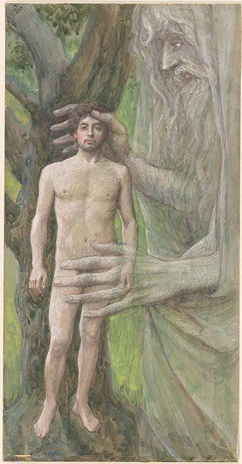 Phillip Medhurst presents 003/788 James Tissot Bible c 1899 God creates  Adam Genesis 1:27 Morgan Museum New York | Genesis creation, Adam and eve,  Artist