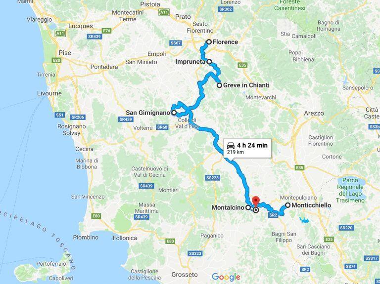 Carte De La Toscane Carte De La Toscane Toscane Road Trip Toscane