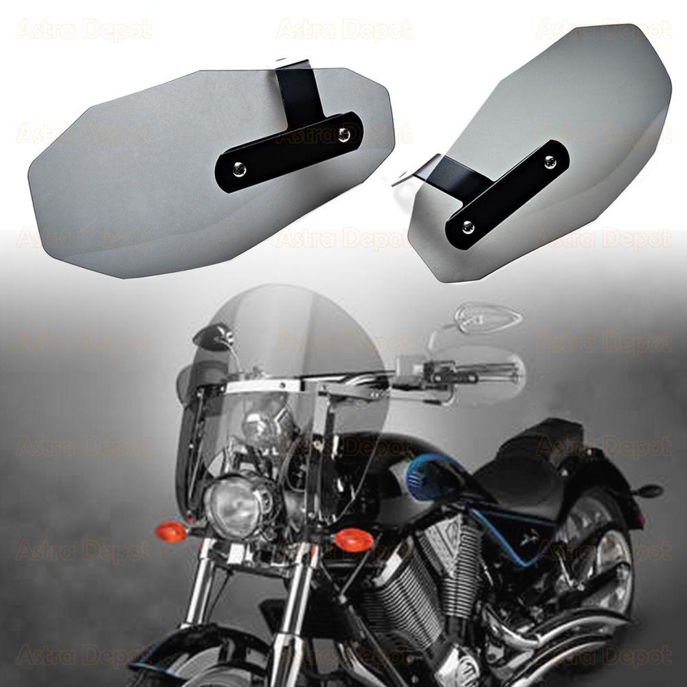 1-Pair Motorcycle Hand Guards Handguard Windshield Deflectors Wind