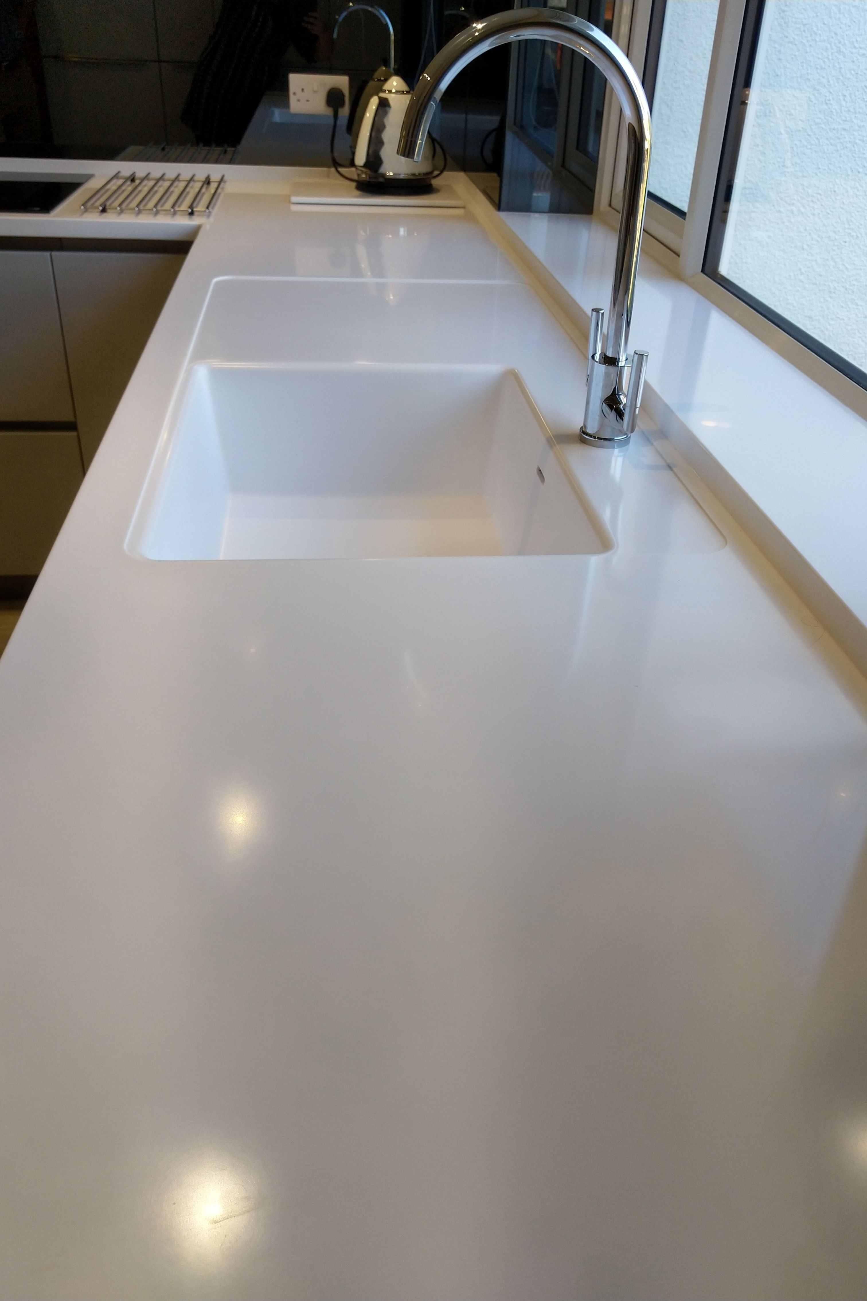 This Installation Features A Corian Moulded Spicy 970 Sink With A
